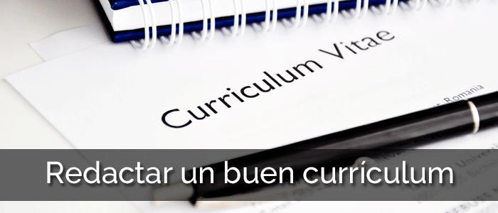 Redactar un buen currículum
